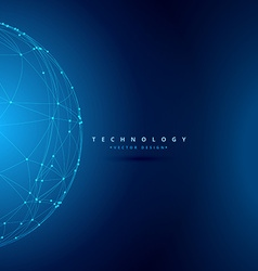 sphere wireframe technology background vector image