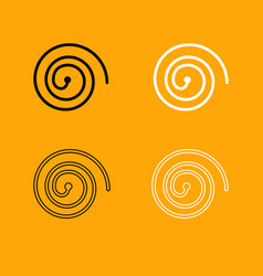 spiral black and white set icon vector image