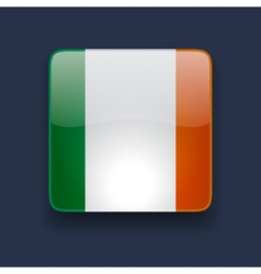 Square icon with flag of Ireland vector image