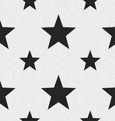 Star Favorite icon sign Seamless pattern with vector image