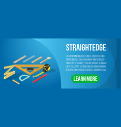 Straightedge concept banner isometric style vector