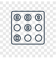 Sudoku concept linear icon isolated on vector