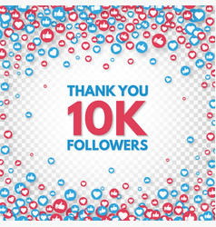 Thank you 10k followers background social media vector
