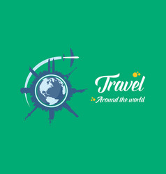 Travel to the world background vector