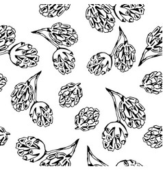 tree cone pattern vector image