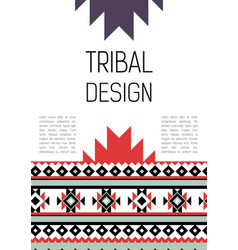 Tribal ethic colorful brochure flyer vector