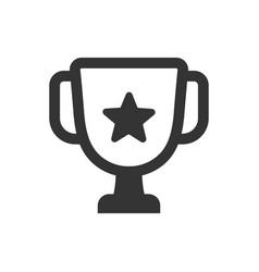 trophy achievement icon vector image