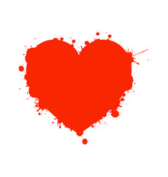 valentine heart with splashes vector image