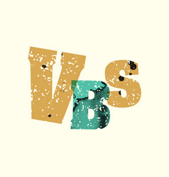 Vbs concept stamped word art vector