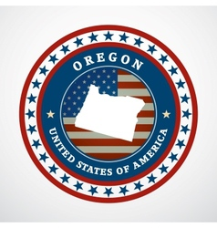 Vintage label Oregon vector image