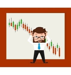 Financial market global crisis vector image