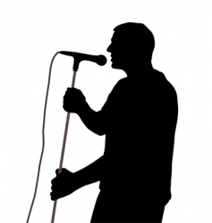 male singer vector image vector image