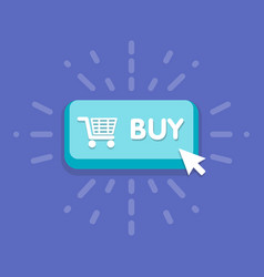 modern buy button design with mouse click symbol vector image vector image