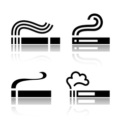 Set of Cigarettes vector image vector image