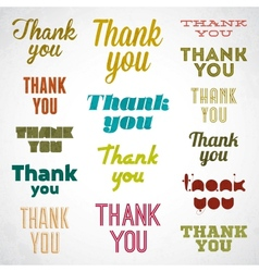 Thank You signature vector image vector image