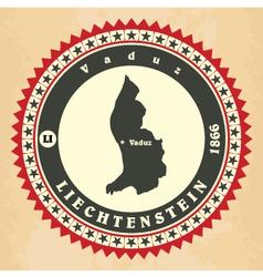 Vintage label-sticker cards of Liechtenstein vector image