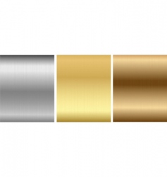 aluminum bronze brass stitched textures vector image
