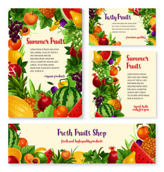 fruit and fresh berry banner template set design vector image
