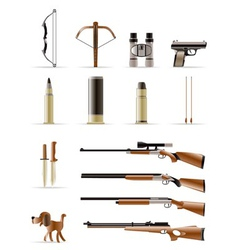 Hunting icons vector