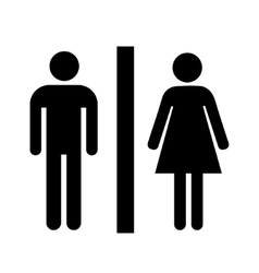 Man and lady toilet sign vector image vector image