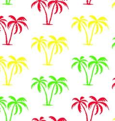 seamless palm tree pattern vector image