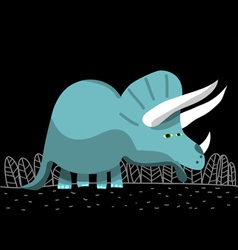 triceratops dinosaur cartoon vector image