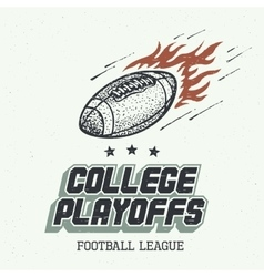 College playoffs hand-drawn vector image