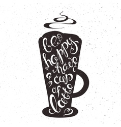 hand drawn printable of cup of vector image