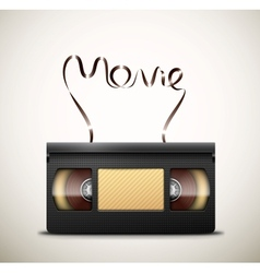 Movie on videotape vector image