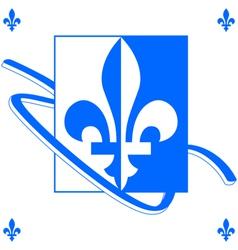 Quebec background vector image