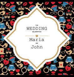 wedding invitation template wedding invitation vector image