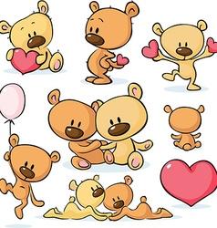 cute valentines teddy bear - vector image