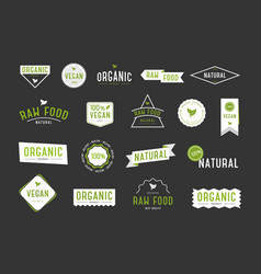 organic labels set collection various logo for vector image