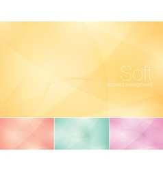 Soft abstract background vector image vector image