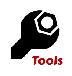 Spanner or wrench tool icon vector image vector image
