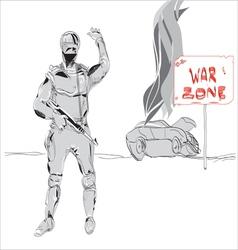 war zone vector image