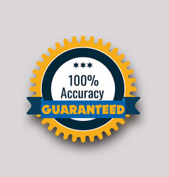 100 percent guaranteed icon vector