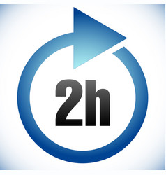 2h turnaround time tat icon interval for vector