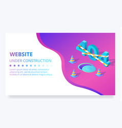 404 error web site under construction page vector