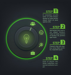 Abstract web interface infographics vector