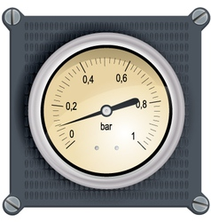 Analog Dashboard vector image