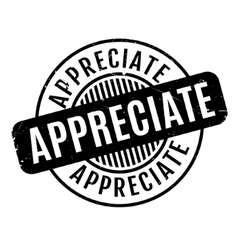 Appreciate rubber stamp vector