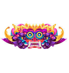 Asian cultural ethnic pattern background monster vector