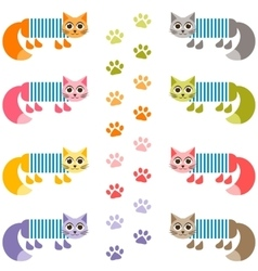 Background with cute sailor cats in frock vector