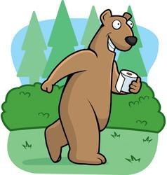 bear woods vector image