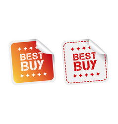 best buy stickers on white background vector image