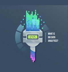 big data machine learning algorithms icon vector image