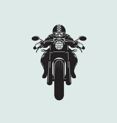 Biker clip art cafe racer style vector