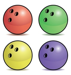 Bowling ball set vector image
