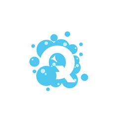 bubble with initial letter q graphic design vector image